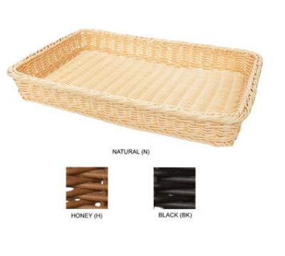 """GET WB-1509-BK Designer Polyweave Basket, Rectangular, 18 x 312-3/4 x 2-1/2"""" Deep,"""