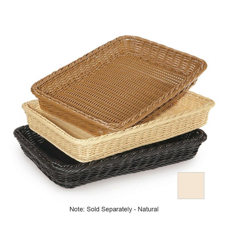 """GET WB-1509-N Designer Polyweave Basket, Rectangular, 18 x 312-3/4 x 2-1/2"""" Deep, Natural"""