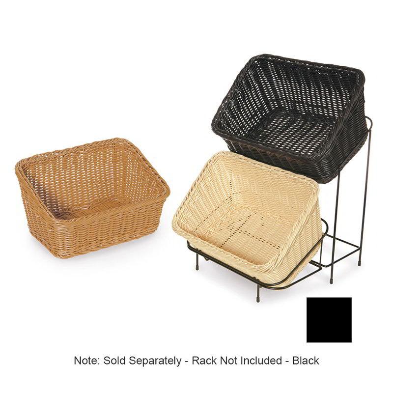 """GET WB-1510-BK Designer Polyweave Basket, Rectangular, 9-1/4 x 13, 4 & 7"""" Deep, Black"""