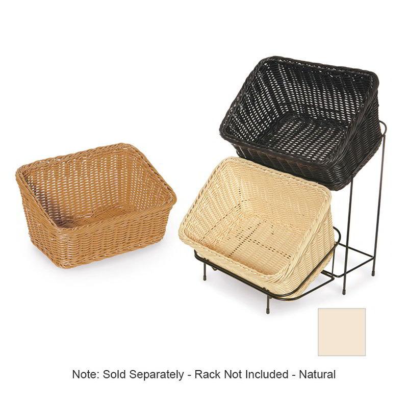 """GET WB-1510-N Designer Polyweave Basket, Rectangular, 9-1/4 x 13, 4 & 7"""" Deep, Natural"""