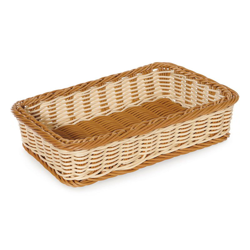 "GET WB-1513-TT Rectangular Bread & Bun Basket, 17.5"" x 11.5"", Polypropylene, Two-Tone"