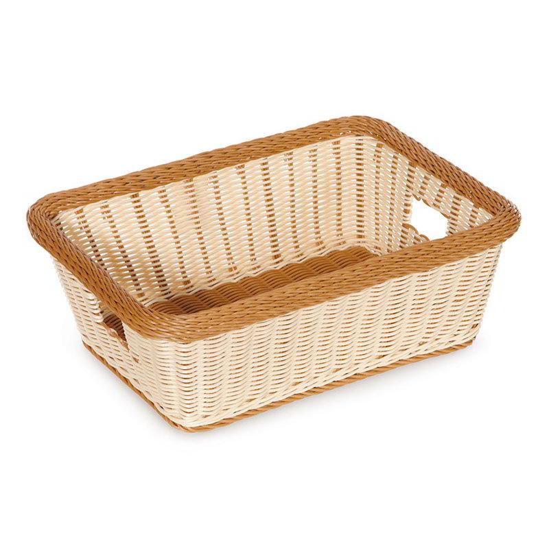 "GET WB-1515-TT Designer Polyweave Basket, Rectangular, 18-1/2 x 13-1/2 x 6-3/4"" D, Two Tone"