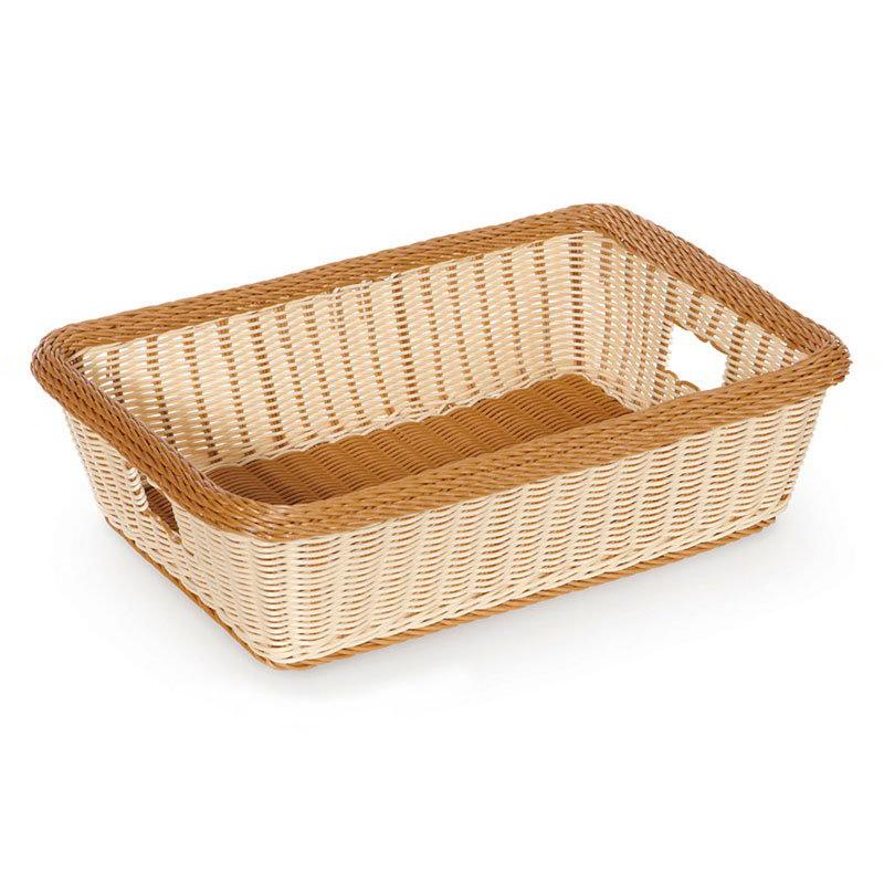 "GET WB-1516-TT Designer Polyweave Basket, Rectangular, 22 x 15-1/2 x 6"" D, Two Tone"