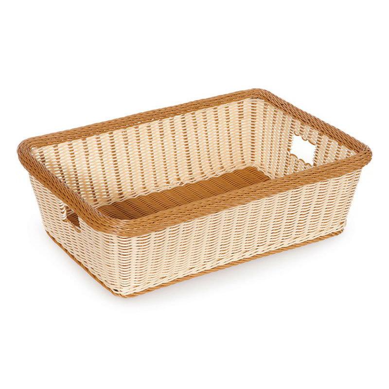 "GET WB-1517-TT Rectangular Bread & Bun Basket, 23"" x 17"", Polypropylene, Two-Tone"