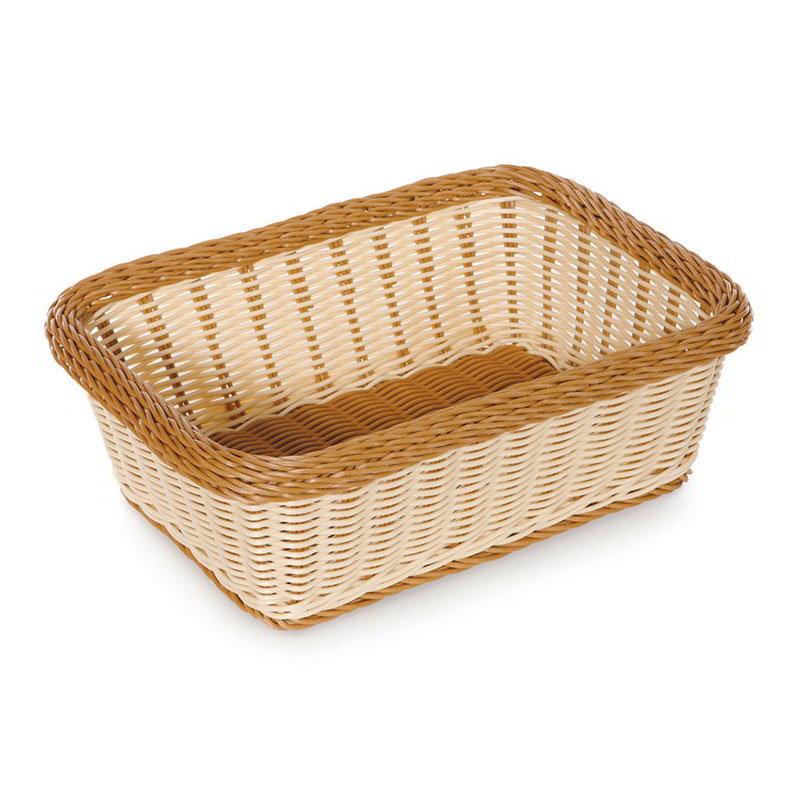 "GET WB-1518-TT Designer Polyweave Basket, Rectangular, 15 x 11 x 5"" D, Two Tone"
