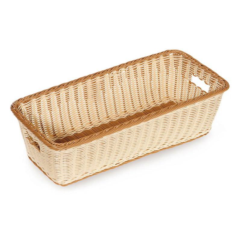 "GET WB-1519-TT Designer Polyweave Basket, Rectangular, 23 x 11 x 6-3/4"" D, Two Tone"