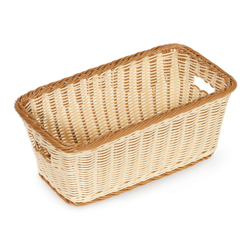 "GET WB-1520-TT Designer Polyweave Basket, Rectangular, 16 x 9 x 6-3/4"" D, Two Tone"