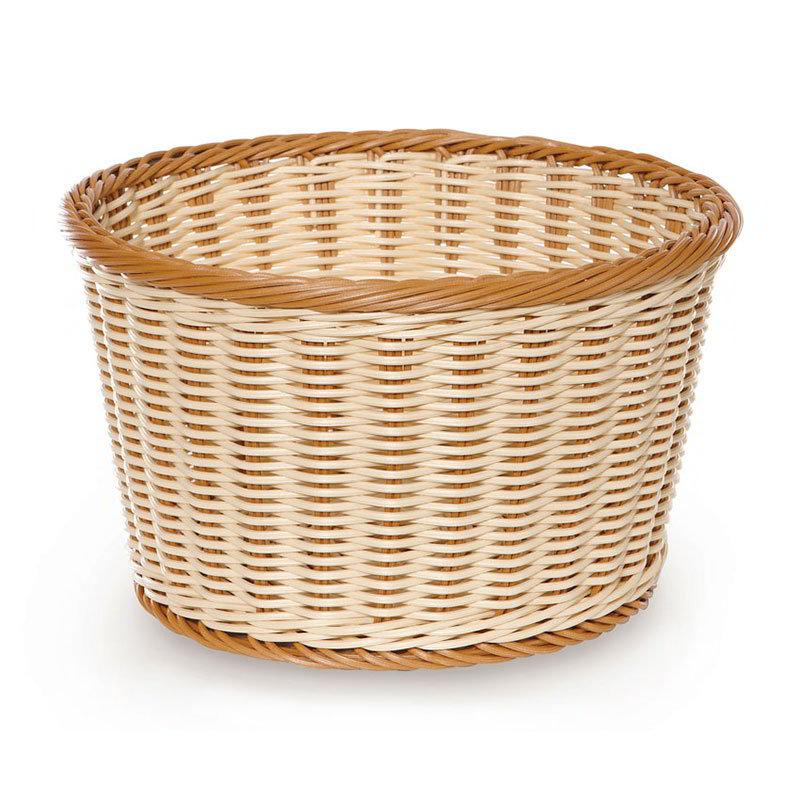 "GET WB-1521-TT Designer Polyweave Basket, Round, 12 x 7"" Deep, Two Tone"