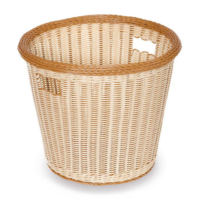 "GET WB-1522-TT Designer Polyweave Basket, Round, 14 x 13"" Deep, Two Tone"
