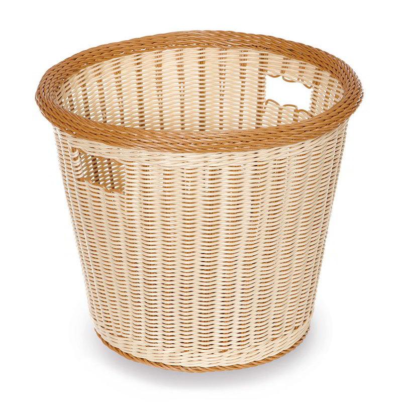 "GET WB-1523-TT Designer Polyweave Basket, Round, 17 x 14-1/2"" Deep, Two Tone"