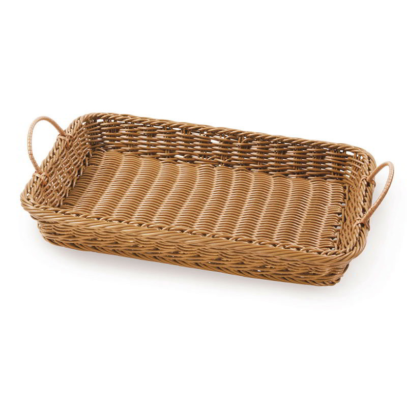 "GET WB-1524-HY Rectangular Basket w/ 2-Handles, 18 x 12.25 x 2.5"" Deep, Honey"