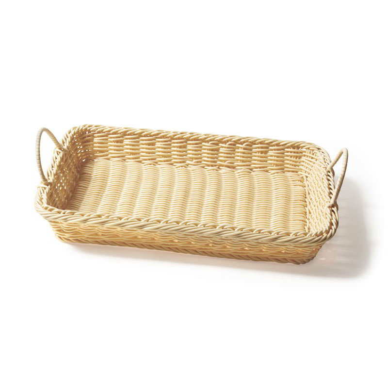 "GET WB-1524-N Rectangular Basket w/ 2-Handles, 18 x 12.25 x 2.5"" Deep, Natural"