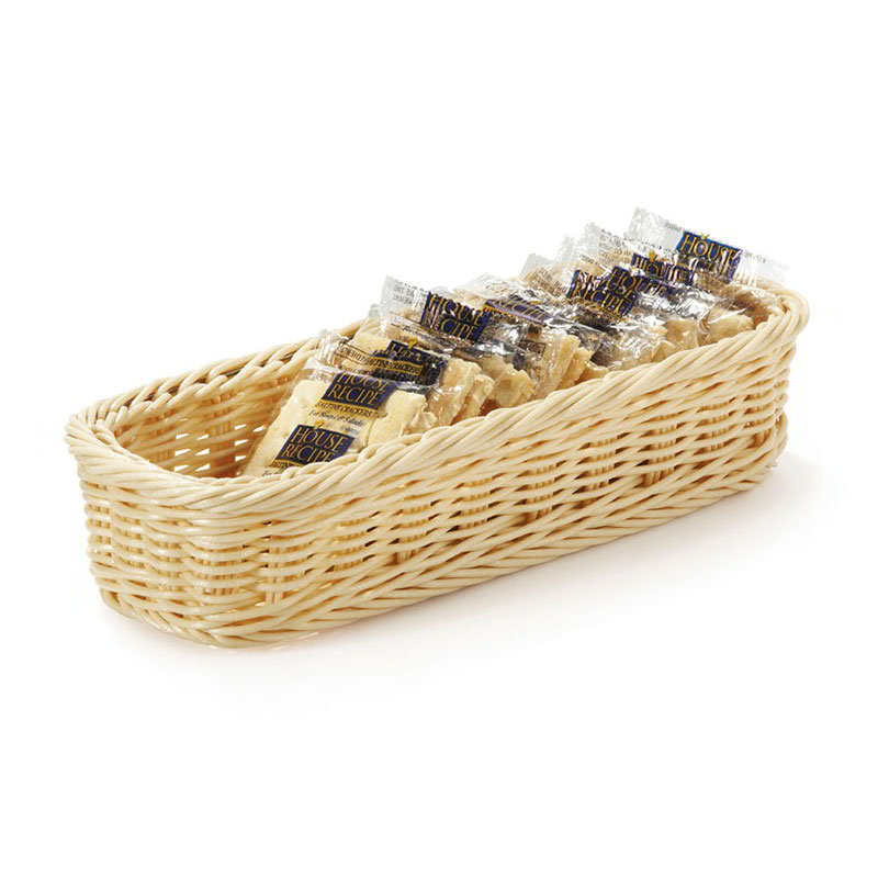 "Get WB-1528-N Rectangular Basket, 9 x 3.75 x 2"" Deep, Natural Polypropylene"