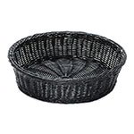 "GET WB-1551-BK 15.5"" Round Polyweave Basket, Dishwasher Safe, Polypropylene, Black"