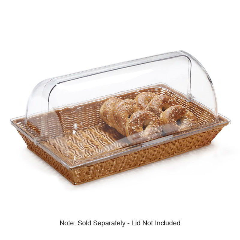 "GET WB-1552-HY Rectangular Bread Basket, 21"" x 12.75"", Polypropylene, Honey"