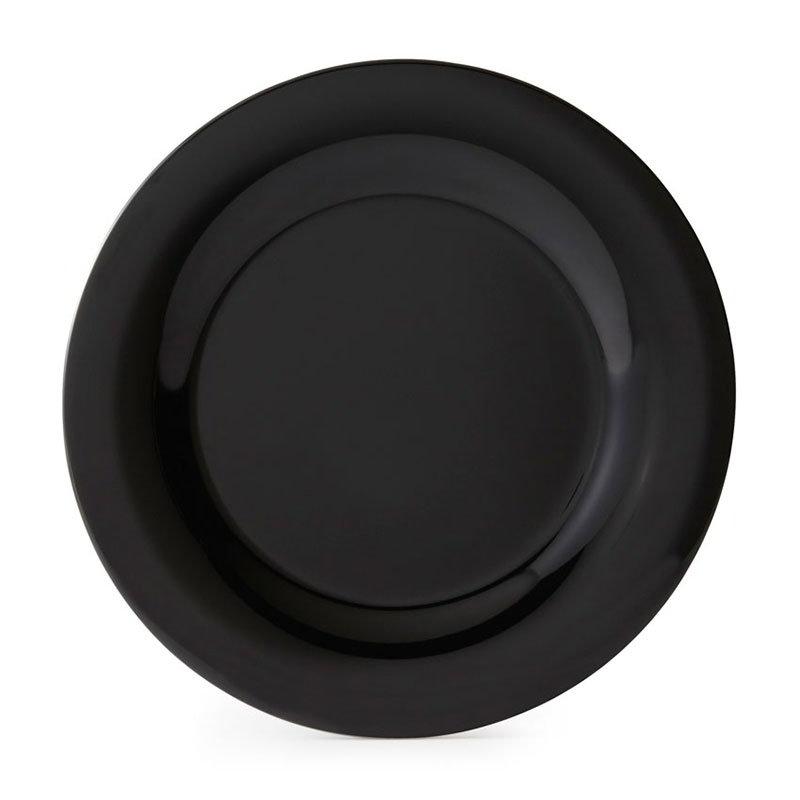 """GET WP-10-BK 10-1/2""""Plate, Wide Rim, Melamine, Black"""