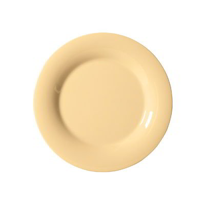 "GET WP-10-SQ 10.5"" Melamine Plate w/ Wide Rim, Squash"