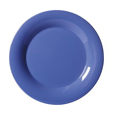 "GET WP-12-PB 12""Plate, Wide Rim, Melamine, Peacock Blue"