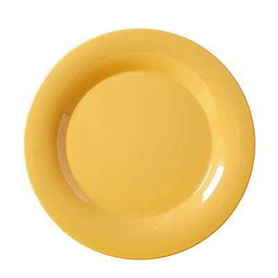 "GET WP-12-TY 12""Plate, Wide Rim, Melamine, Tropical Yellow"
