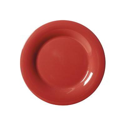 """GET WP-5-CR 5.5"""" Melamine Plate w/ Wide Rim, Cranberry"""