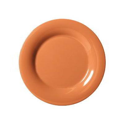 "GET WP-5-PK 5.5"" Melamine Plate w/ Wide Rim, Pumpkin"