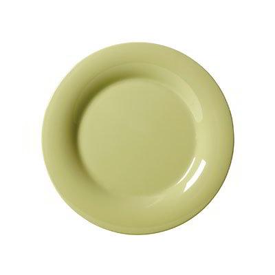 "GET WP-6-AV 6.5"" Melamine Plate w/ Wide Rim, Avocado"