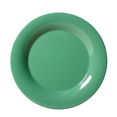 "GET WP-6-FG 6-1/2""Plate, Wide Rim, Melamine, Rainforest Green"