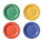 "GET WP-6-MIX 6-1/2""Plate, Wide Rim, Melamine, Mardi Gras Mix"