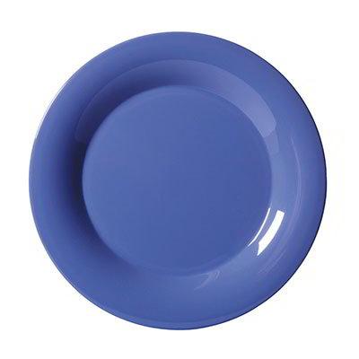 "GET WP-6-PB 6-1/2""Plate, Wide Rim, Melamine, Peacock Blue"