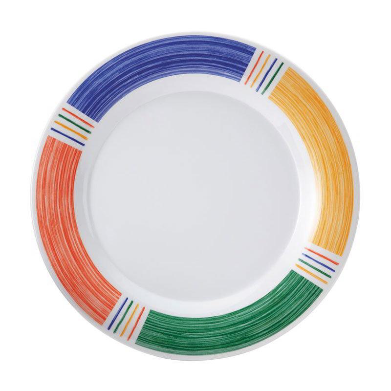 "GET WP-7-BA 7.5"" Round Salad Plate, Melamine, White"