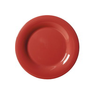 "GET WP-7-CR 7.5"" Melamine Plate w/ Wide Rim, Cranberry"