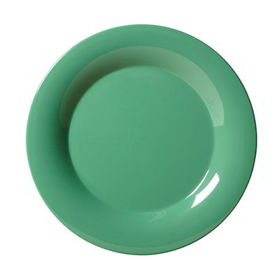 "GET WP-7-FG 7-1/2""Plate, Wide Rim, Melamine, Rainforest Green"