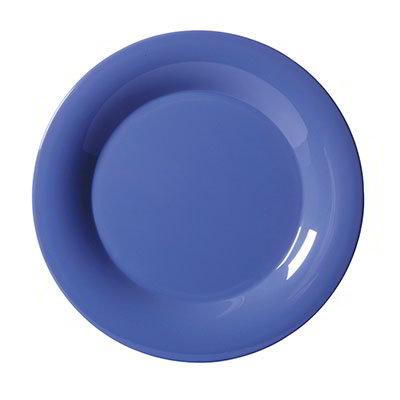 "GET WP-7-PB 7-1/2""Plate, Wide Rim, Melamine, Peacock Blue"