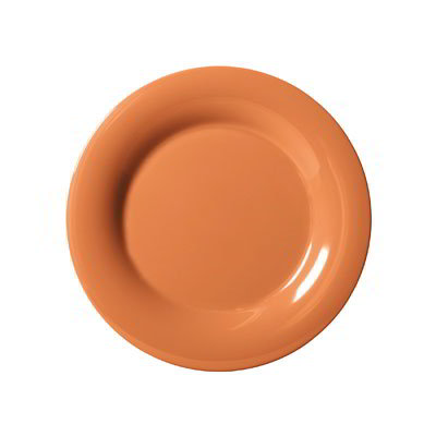 "GET WP-7-PK 7.5"" Melamine Plate w/ Wide Rim, Pumpkin"