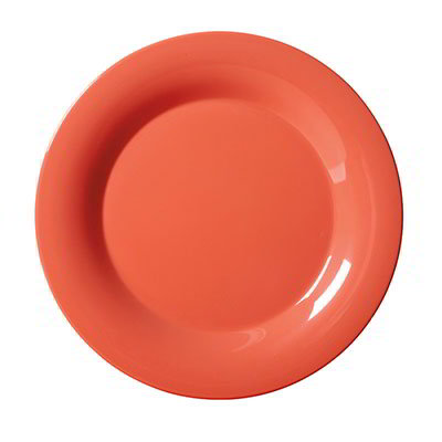 "GET WP-7-RO 7-1/2""Plate, Wide Rim, Melamine, Rio Orange"