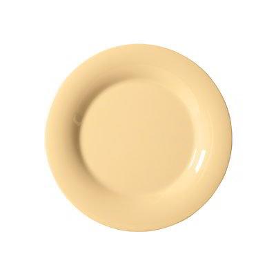"GET WP-7-SQ 7.5"" Melamine Plate w/ Wide Rim, Squash"
