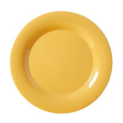 "GET WP-7-TY 7-1/2""Plate, Wide Rim, Melamine, Tropical Yellow"