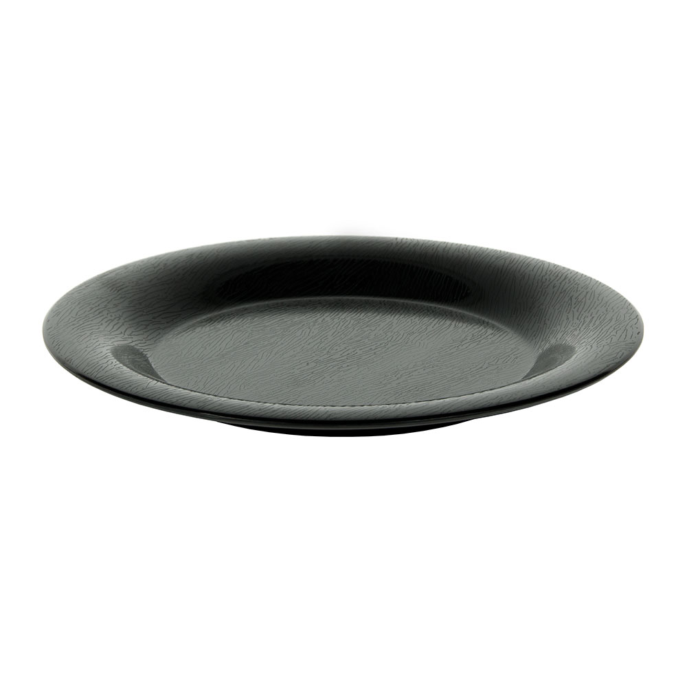 "GET WP-9-EW-BK 9"" Round Dinner Plate, Melamine, Black"