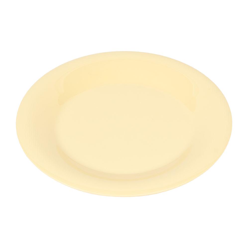 "GET WP-9-SQ 9"" Round Dinner Plate, Melamine, Squash"
