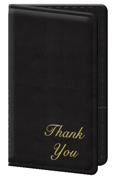 Risch 5000P-B3 Guest Check Holder - Black