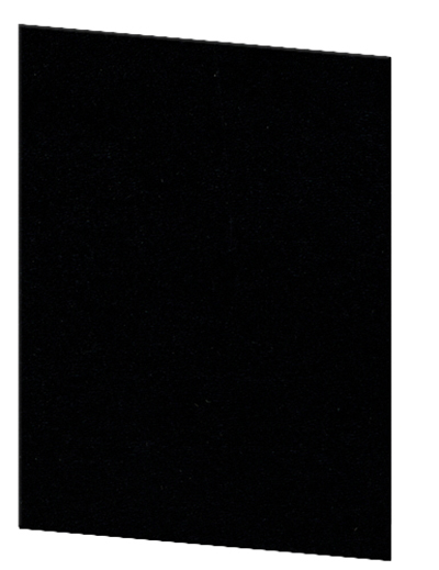 "Risch OM-1V8-1/2X11 BK Oakmont Menu Cover - Single-View, 8-1/2x11"" Black"