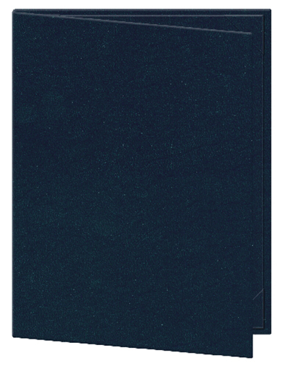 "Risch OM-1V8-1/2X11 BL Oakmont Menu Cover - Single-View, 8-1/2x11"" Blue"