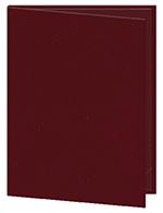 """Risch OM-1V8-1/2X11 WN Oakmont Menu Cover - Single-View, 8-1/2x11"""" Wine"""