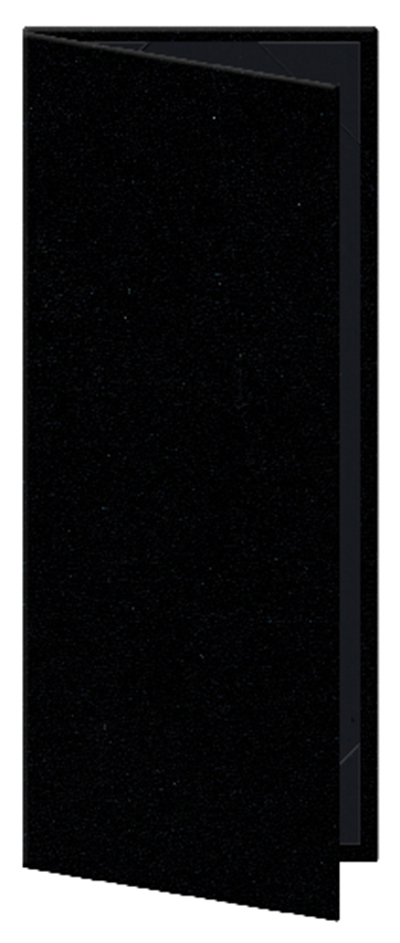 "Risch OM-2V4-1/4X11 BK Oakmont Menu Cover - Double-View, 4-1/4x11"" Black"