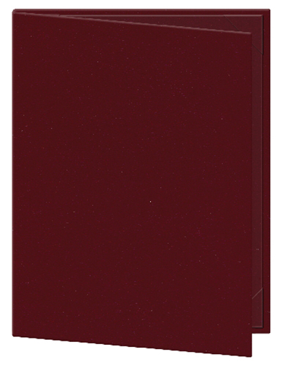 "Risch OM-2V4-1/4X11 WN Oakmont Menu Cover - Double-View, 4-1/4x11"" Wine"