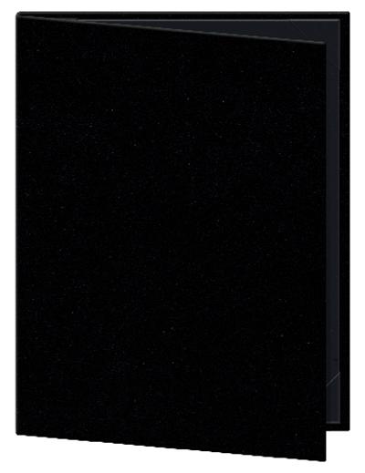 "Risch OM-2V8-1/2X11 BK Oakmont Menu Cover - Double-View, 8-1/2x11"" Black"