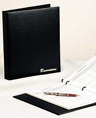 "Risch RESBOOK Reservation Book - 3-Ring Spine, 8-1/2x11"" Black"