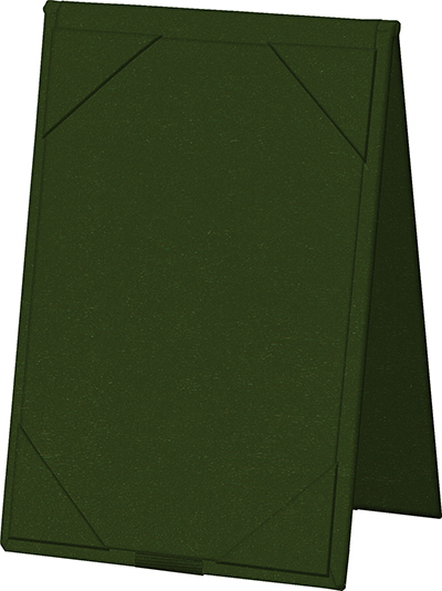 """Risch TENT4X6 GN Table Tent - Album-Style Corners, 4x6"""" Green"""