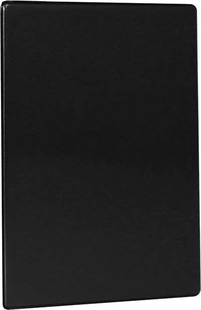 "Risch TMB5-1/2X8-1/2 BK Tuscan Menu Board - Hardback, Double-Sided, 5-1/2x8-1/2"" Black"