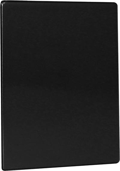 "Risch TMB8-1/2X11 BK Tuscan Menu Board - Hardback, Double-Sided, 8-1/2x11"" Black"